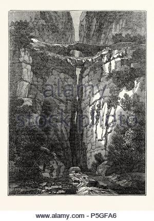 View of the Natural Bridges of Icononzo. - Stock Photo