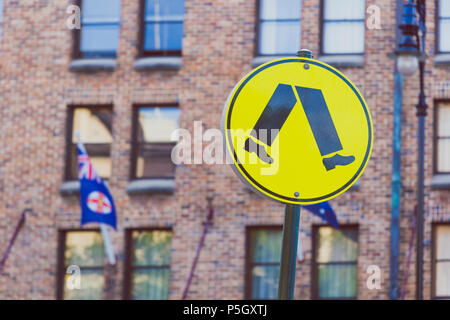 SYDNEY, AUSTRALIA - January 1st, 2015: detail of the historical area of The Rocks in Sydney CBD - Stock Photo