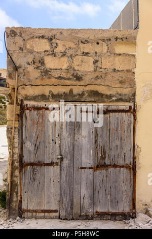 A very old boat house at Dwerja, the inland sea, Gozo, Malta. - Stock Photo