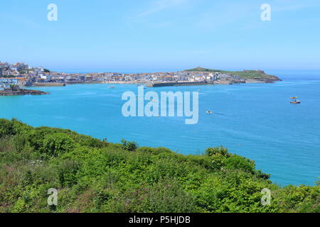 Looking towards St Ives in Cornwall - Stock Photo