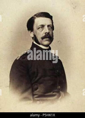 N/A. English: Ernst Frederik Schau (1826-1864), Danish army officer . between 1860 and 1864. Hermann Ohm (Christoph Heinrich Hermann Ohm, 1829-1900) 523 Ernst Schau by Hermann Ohm - Stock Photo