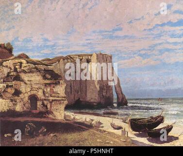 Cliffs at Etretat after the storm (La falaise d'Étretat après l'orage)  1870. N/A 384 Courbet Etretat - Stock Photo