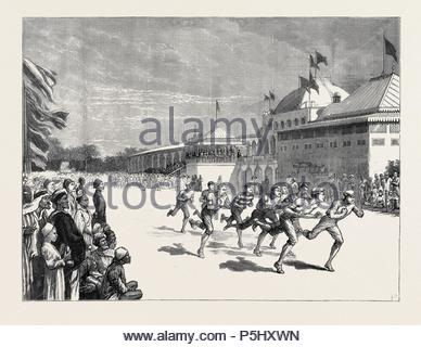 BRITISH ATHLETIC SPORTS AT ALEXANDRIA: ASTONISHING THE NATIVES. - Stock Photo