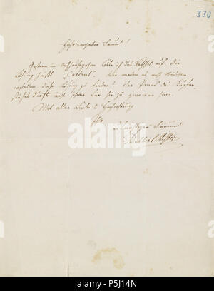 Adalbert Stifter Brief Stock Photo 213812139 Alamy