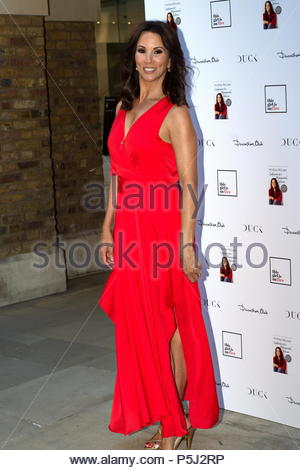 London, United Kingdom. 26th June, 2018. Andrea McLean attends her new book launch 'Confessions of a Menopausal Woman' at the Devonshire Club in London, United Kingdom on June 26, 2018. (c) copyright Credit: CrowdSpark/Alamy Live News - Stock Photo
