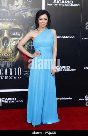 Los Angeles, USA. 26th Jun, 2018. Aimee Garcia at the Los Angeles premiere of 'Sicario: Day Of The Soldado' held at the Regency Village Theatre in Westwood, USA on June 26, 2018. Credit: Hyperstar/Alamy Live News - Stock Photo
