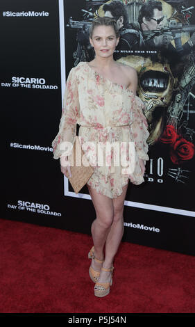 Los Angeles, USA. 26 June 2018 - Westwood, California - Jennifer Morrison. Premiere of 'Sicario: Day of the Soldado' held at Westwood Regency Theater. Photo Credit: PMA/AdMedia Credit: Pma/AdMedia/ZUMA Wire/Alamy Live News - Stock Photo