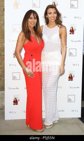 London, UK. 26th Jun, 2018. Linda Lusardi and her daughter Lucy Kane at the Andrea McLean: Confessions of a Menopausal Woman Book Launch Party  at The Devonshire Club, Devonshire Square, London on Tuesday 26 June 2018  Photo by Keith Mayhew Credit: KEITH MAYHEW/Alamy Live News - Stock Photo
