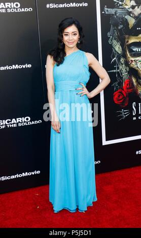 Los Angeles, CA, USA. 26th June, 2018. Aimee Garcia at arrivals for SICARIO: DAY OF THE SOLDADO Premiere, Regency Village Theatre - Westwood, Los Angeles, CA June 26, 2018. Credit: Elizabeth Goodenough/Everett Collection/Alamy Live News - Stock Photo