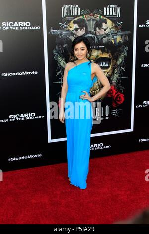 Los Angeles, CA, USA. 26th June, 2018. Aimee Garcia at arrivals for SICARIO: DAY OF THE SOLDADO Premiere, Regency Village Theatre - Westwood, Los Angeles, CA June 26, 2018. Credit: Priscilla Grant/Everett Collection/Alamy Live News - Stock Photo