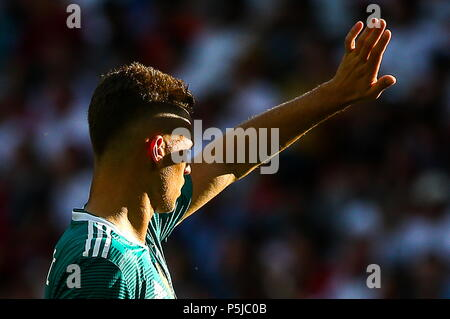 Kazan, Russia. 27th June, 2018.  Germany's Joshua Kimmich in their 2018 FIFA World Cup Group F match against South Korea at Kazan Arena Stadium. Yegor Aleyev/TASS Credit: ITAR-TASS News Agency/Alamy Live News - Stock Photo