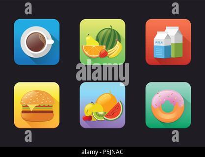 Fruits Flat Icon - Stock Photo