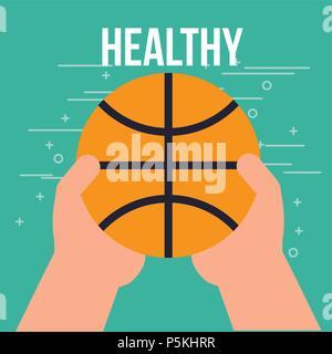 boy and girl healthy good habits - Stock Photo