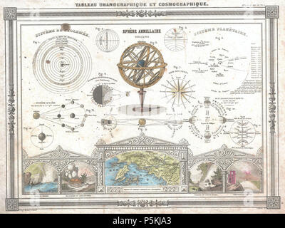 1852 Vuillemin Astronomical and Cosmographical Chart - Geographicus - Cosmographique-vuillemin-1852. - Stock Photo