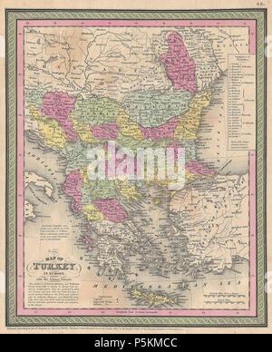 1850 Mitchell Map Of Europe Stock Photo 212706538 Alamy
