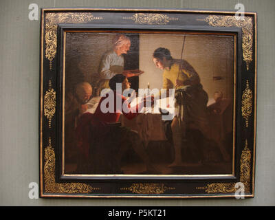 Esau Sells his Birthright  Unknown date. N/A 243 Hendrick ter Brugghen Esau sells his birthright - Stock Photo