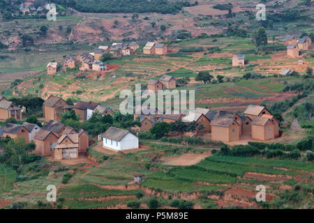 Madagascan village - Stock Photo