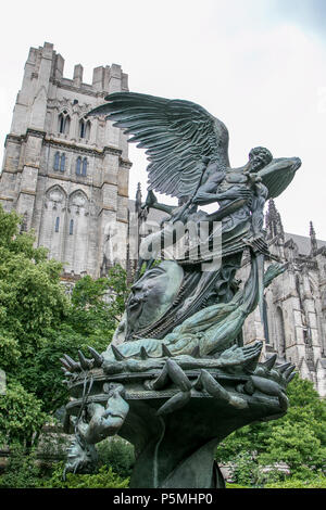 Peace Fountain by Greg Wyatt, by The Cathedral Church of St. John the Divine in NYC. - Stock Photo
