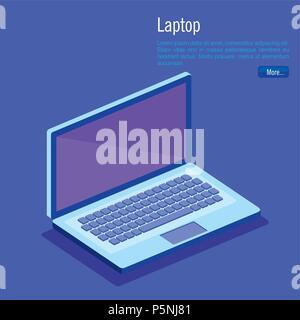 laptop computer isometrics icons - Stock Photo