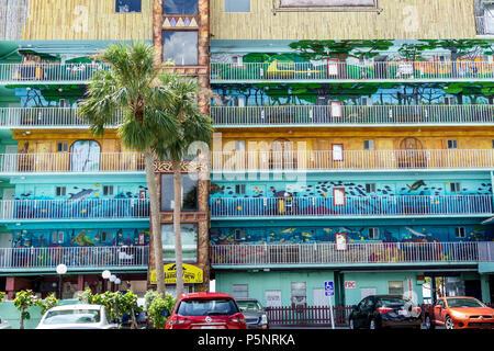Fort Ft. Myers Florida Beach Lani Kai Island Resort hotel wall art - Stock Photo