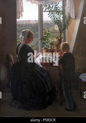 1858 Jessen Der Blick aus dem Fenster anagoria.