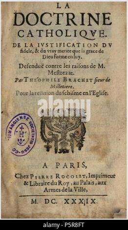 Brachet Doctrine Catholique Stock Photo 220615257 Alamy