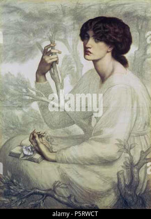 N/A. English: The Day Dream (Jane Morris) . circa 1855.   Dante Gabriel Rossetti  (1828–1882)       Alternative names Birth name: Gabriel Charles Dante Rossetti  Description British painter, poet and translator  Date of birth/death 12 May 1828 9 April 1882  Location of birth/death London Birchington-on-Sea  Work location London  Authority control  : Q186748 VIAF:41848725 ISNI:0000 0001 2129 6670 ULAN:500022594 LCCN:n79117985 NLA:35463837 WorldCat 417 DayDream Rossetti2 - Stock Photo