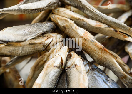 Dried fish close - Stock Photo