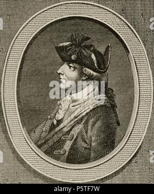 Henry Clinton (1730-1795). British military and politician. Engraving in American Revolution. - Stock Photo