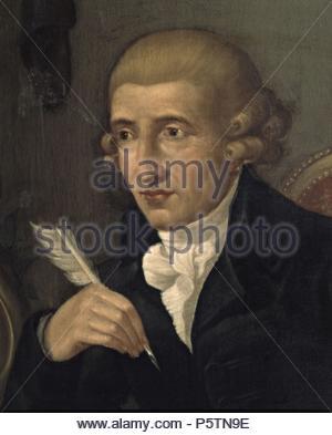 Portrait of Franz Joseph Haydn. Museum: Museo Bibliografico Musicale. - Stock Photo