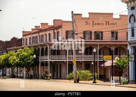 St James Hotel, Selma, Alabama, USA - Stock Photo