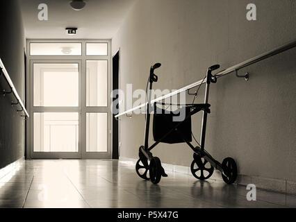 Corridor in a nursing home - Stock Photo