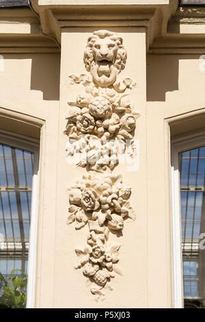 Temperate house at Kew RBG, exterior detail. - Stock Photo