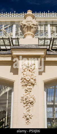 Temperate house at Kew RBG, exterior detail. Panoramic. - Stock Photo