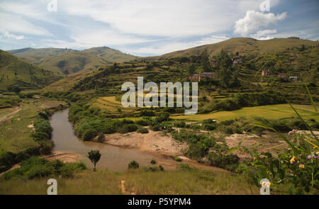 Madagascan landscape - Stock Photo