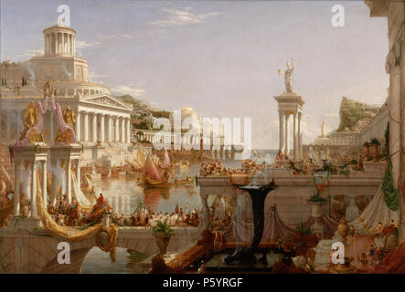 THOMAS COLE (1801-1848) English-born American painter. His 1835-6 work The Course of Empire: Consummation - Stock Photo