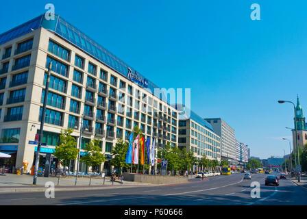 Karl-Liebknecht-Strasse, Alexanderplatz, Mitte, Berlin, Germany - Stock Photo