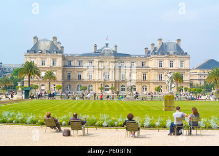 Jardin du Luxembourg, Luxembourg Gardens, 6th district, Paris, France - Stock Photo