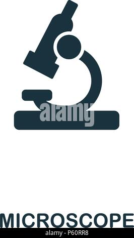 Microscope icon. Line style icon design. UI. Illustration of microscope icon. Pictogram isolated on white. Ready to use in web design, apps, software, print. - Stock Photo