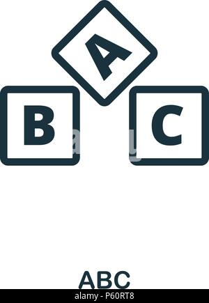 Abc icon. Line style icon design. UI. Illustration of abc icon. Pictogram isolated on white. Ready to use in web design, apps, software, print. - Stock Photo