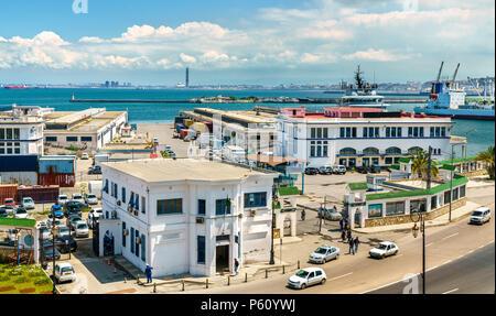 Port of Algiers, the capital of Algeria - Stock Photo