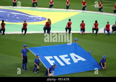 Moscow, Russian. 27th June, 2018. 27.06.2018. MOSCOW, Russian:Ceremony before the Fifa World Cup Russia 2018, Group E, football match between SERBIA VS BRAZIL in SPARTAK Stadium IN MOSCOW. Credit: Independent Photo Agency/Alamy Live News - Stock Photo