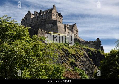 National War Museum of Edinburgh Castle fortress on the volcanic plug of Castle Rock in Edinburgh capital city of Scotland United Kingdom - Stock Photo