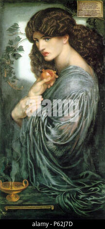 N/A. English: Proserpine/Persephone . 1874.   Dante Gabriel Rossetti  (1828–1882)       Alternative names Birth name: Gabriel Charles Dante Rossetti  Description British painter, poet and translator  Date of birth/death 12 May 1828 9 April 1882  Location of birth/death London Birchington-on-Sea  Work location London  Authority control  : Q186748 VIAF:41848725 ISNI:0000 0001 2129 6670 ULAN:500022594 LCCN:n79117985 NLA:35463837 WorldCat 412 Dante Gabriel Rossetti - Proserpine - Stock Photo