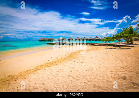 Moorea beach vacation - Stock Photo