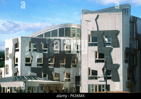 Scottish Parliament Building, Edinburgh, Scotland, UK - Stock Photo