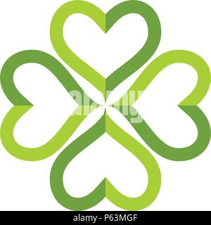 green clover leaf logo template design vector stock vector art