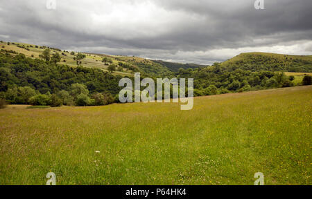 Manifold Valley, seen from near Grindon, Peak District. - Stock Photo