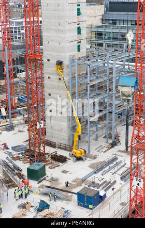 Regents Place construction site, London, UK - Stock Photo
