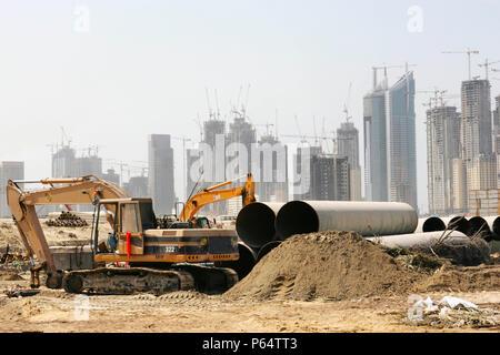 Model of a proposed new building development, Dubai, UAE - Stock Photo